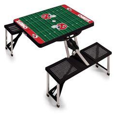Kansas City Chiefs Football Field Folding Picnic Table