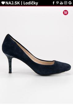 Tmavo modré kožené lodičky CnB Kitten Heels, Platform, Shoes, Fashion, Moda, Zapatos, Shoes Outlet, Fashion Styles, Shoe