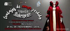La comedia TRABAJOS DE AMOR PERDIDO de Shakespeare, bajo la dirección de Mario Sudano, se presentará en el Ateneo desde el 21 al 29 de noviembre