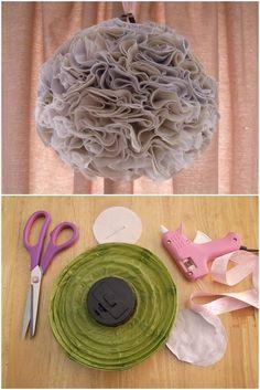 Fabric Pom pom DIY tutorial