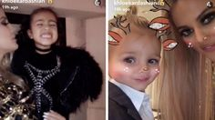 North West in Alexander Wang , Reign handsome in suit at Kris Jenner's annual Christmas bash. The rest of the Kardashian / Jenner clan partied it up: Kourtney , Kim , Kylie , Kendall , Tyga , Scott Disick , Mason .