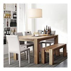 rustic table with nice white chairs