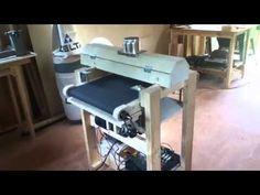 Homemade drum sander - Επιτραπέζιο τριβείο - YouTube