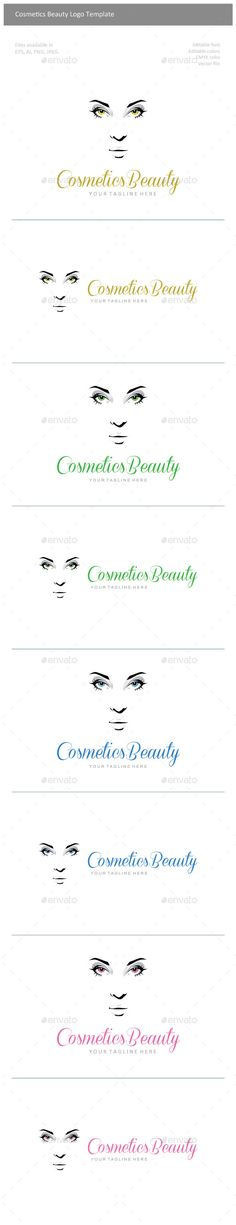 Cosmetics Beauty Logo — Vector EPS #beautiful #girl • Available here → https://graphicriver.net/item/cosmetics-beauty-logo/9964281?ref=pxcr
