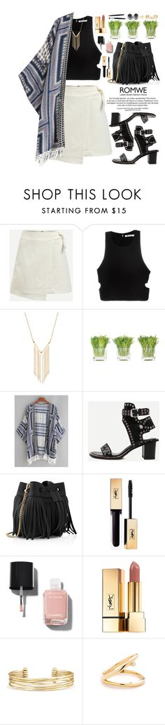 """Romwe"" by oshint ❤ liked on Polyvore featuring T By Alexander Wang, Gemelli, NDI, Whistles, Chanel, Yves Saint Laurent, Stella & Dot, Summer, amazing and pretty"
