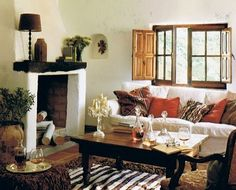 spanish inspired style Country Girl Home, French Country House, Country Homes, Country Charm, Rustic Charm, Country Style, Tuscan Style Homes, Spanish Style Homes, Spanish Revival