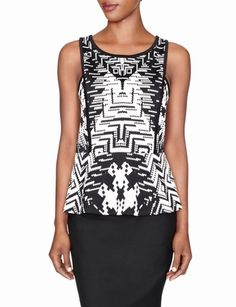 Forenza Printed Ponte Peplum Top from THELIMITED.com #Forenza #PeplumTop