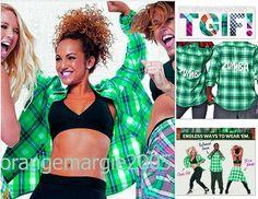 Zumba Crazy Happy Flannel Shirt-Super RARE-Much Desired Z3T00041 Green Check S M #ZUMBAZumbawearZumbaFitness #ShirtFlannelTop