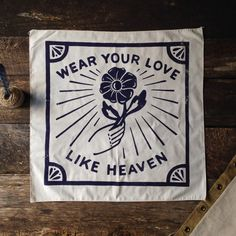 Wear Your Love Bandana by BrothersSupplyShop on Etsy