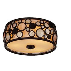 Shop Style Selections Fairgate 14-in W Bronze Ceiling Flush Mount Light at Lowes.com