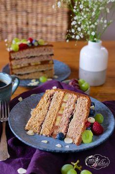 Slávnostná orechová torta Cornbread, Sandwiches, Blog, Ethnic Recipes, Basket, Millet Bread, Blogging, Paninis, Corn Bread