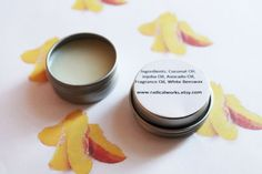 Sliced Peaches Solid Perfume  Scented Natural Perfume