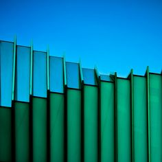 rectangles in blue and green #architecture