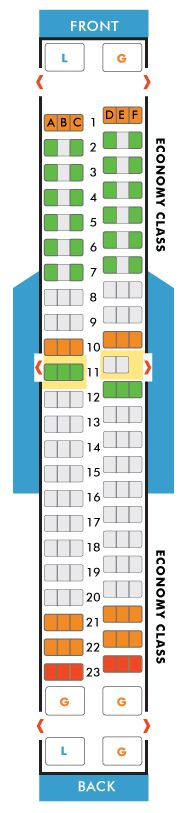 United Airlines Boeing 757 200 Jet Seating Map Aircraft