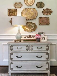 beautiful dresser and vignette