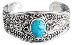 Stunning Silver cuff bracelet!  #silver #anniversary #gifts #ideas #woodanniversary