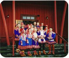 Laplander people, or Sami in Norway