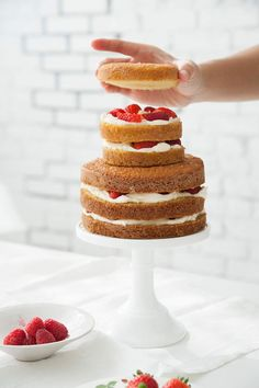 how to make a naked cake | designlovefest