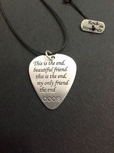 Mediator Unique silver guitar pick Gift for him Guitar Pick Jewelry, Guitar Pick Necklace, Dog Tag Necklace, Personalised Gifts Handmade, Personalized Jewelry, Handmade Sterling Silver, Sterling Silver Pendants, Guitar Picks Personalized, Rock Collection