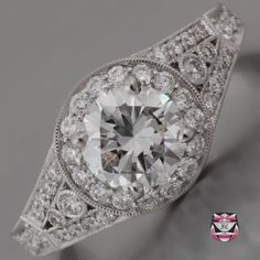 Art Deco Engagement Ring - GIA Certified 1.06ct F/SI Diamond