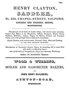 1841. Page of Manchester adverts