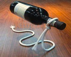 Floating Wine Bottle Illusion