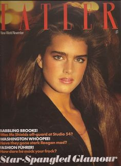 Brooke Shields Tatler magazine, Novermber 1981