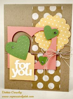 My inspiration for this card was the negative heart image which was laying in my scrap basket. You never know where you'll find your inspiration. Crowley, I Card, Stampin Up, Finding Yourself, Birthdays, Card Making, Paper Crafts, Scrapbook, Creative