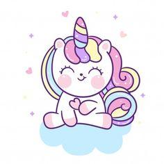 Vivid8 | Freepik Unicorn Fantasy, Unicorn Art, Cute Unicorn, Iphone Wallpaper Unicorn, Unicornios Wallpaper, Unicorn Images, Unicorn Pictures, Cute Little Drawings, Cute Drawings