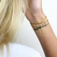 Kids' names bracelet tattoo