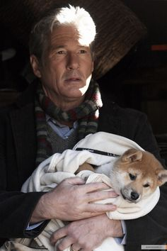 Hachiko: A Dog's Story - Publicity still of Richard Gere Baby Animals, Funny Animals, Cute Animals, Hachi A Dogs Tale, A Dog's Tale, Richard Gere, Akita Dog, Loyal Dogs, Pets
