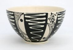 White Wiggle Pasta Bowl by Mark Daly