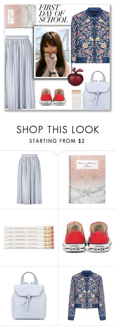 """First day of school"" by emina-la ❤ liked on Polyvore featuring Temperley London, Converse, Alexandra de Curtis, Needle & Thread, Lalique and BackToSchool"