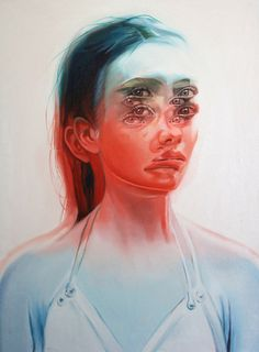 """WAKEFULNESS"" – Dizzying Double-Exposed Portrait Paintings by Toronto-based Artist Alex Garant"