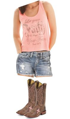 """""""Pretty n Pink n Country 2"""" by woodburyoutfitters on Polyvore"""