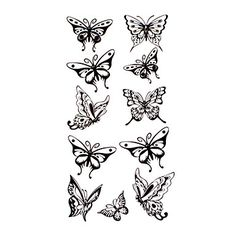 1000 images about blomster og sommerfugle on pinterest 3d butterfly tattoo butterflies and. Black Bedroom Furniture Sets. Home Design Ideas