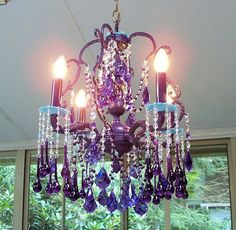Fata's Vardo:  #Gypsy style ~ Antique French #Birdcage #Chandelier with Antique Aqua Crystal Accents.