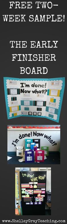 Would you like to try The Early Finisher Board for free in your classroom? Sign up for a free two-week sample here! I'll send you the sample of your choice, plus the Getting Started Guide - everything that you need to get your own Early Finisher Board up