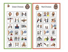 Examples of Self-Management & Emotional/Behavioral Supports Behavior Cards, Classroom Behavior Management, Behaviour Management, Classroom Behaviour, Behavior Plans, Behavior Interventions, Behaviour Chart, School Social Work, Emotional Regulation