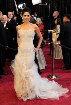 Halle Berry rocked the red carpet at the 2011 Academy Awards in a frothy gown by Marchesa.