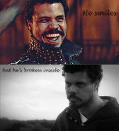 The Musketeers - Porthos, 'He smiles but...'