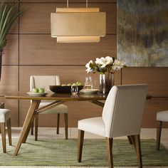 Our Aptos chandelier brings sophistication to every room. The natural fabric shade and unique shape adds a simple touch. No assembly required.
