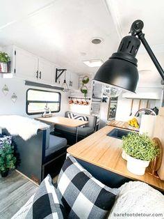 How To Remodel A Camper, Camper Renovation, Trailer Remodel, Travel Trailer Interior, Rv Interior, Diy Camper, Camper Life, Camper Van, Camper Makeover
