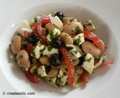 Healthy Lunch Recipe: Butter Bean, Feta  Olive Salad