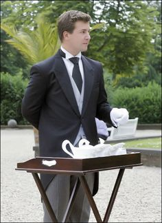 Tea served by the butler.....ooohh good idea!!