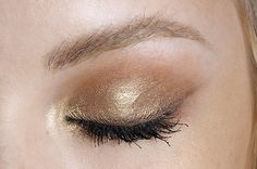 gold and nude shimmer