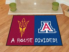 25d12748c Arizona State   Arizona House Divided Mat Arizona Wildcats