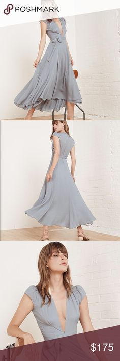 Reformation Laura Dress Reformation Laura dress in light blue. So pretty and great for any event! Such a staple piece!! Size 2, NWOT Reformation Dresses