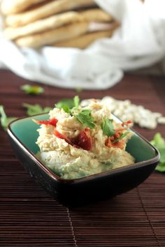 White Bean Dip with Bacon - Super simple healthy dip mixed up in just minutes! | carmelmoments.com