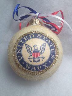 US Navy Flag Ornament   Christmas ornament, Navy flag and United ...